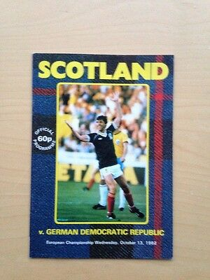 SCOTLAND v GERMAN DEMOCRATIC REPUBLIC. European Championship 1982