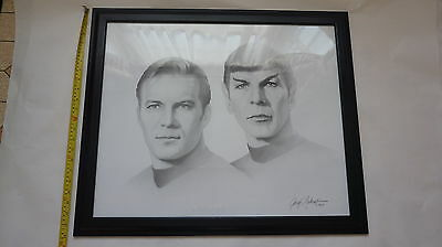 STAR TREK Graphite Pencil Drawings by Gary Saderup Captain Kirk and Leonard Nimo
