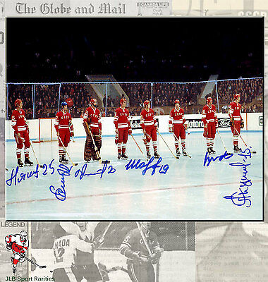 1972 Summit Series Team CCCP Russia 8x10 Photo Autographed by 6