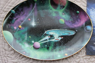 "Star Trek Plate Final Frontier ""oval"" Collection Signs Of Intelligence"