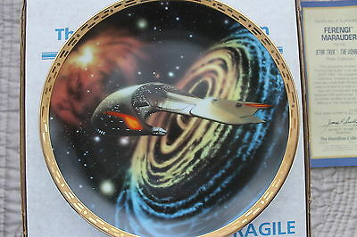 Star Trek The Voyagers Plates Ferengi Marauder  From Hamilton Collection