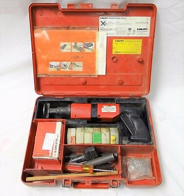 Commercial Grade Hilti Dx 400B Powder Actuated Nail Gun With Extras In Case