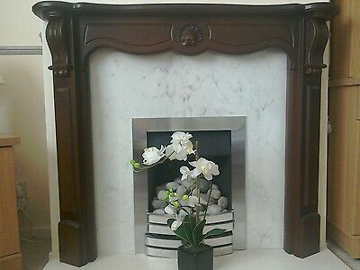 Dark Wood Fire Surround Good Condition