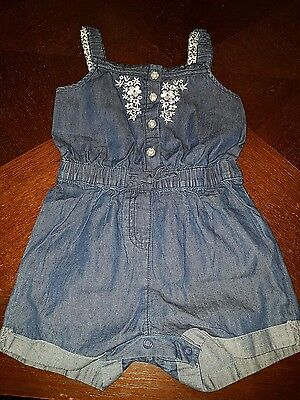 girls 2-3 years dungaree shorts playsuit jumpsuit clothes floral next day twin