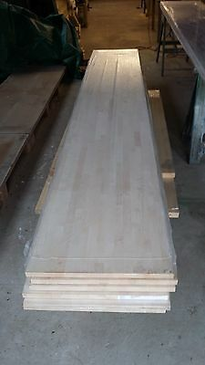 solid maple hardwood wooden kitchen worktop 620mm x 4 meters long - CHEAP