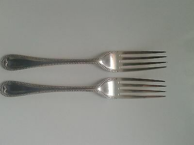 Pair Of Sterling Silver Table Forks London 1891