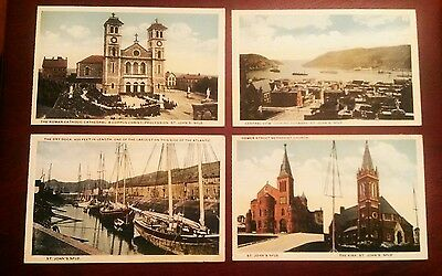 4 x original early postcards of Newfoundland lovely cards