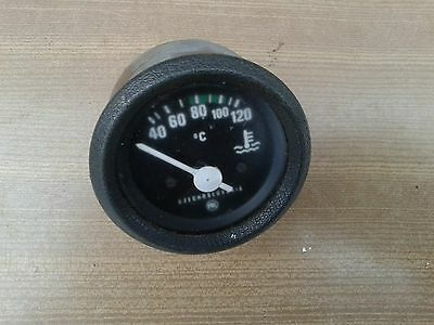 Old 12V Car Water Temperature,gauge 40-120°C Black Face With Fitting Bracket