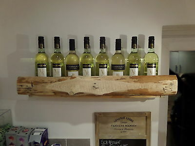 Rustic upcycled  chunky wine rack/Bottle holder.. natural finish..