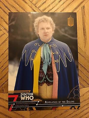 Topps Doctor Who Extraterrestrial 2016 Gold Parallel Base card number 66 1/1