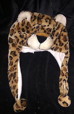 Child's Tiger Hat With Face & Scarf One Size New