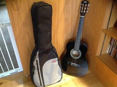 Acoustic Cb Sky 3/4  Black Guitar complete With Case