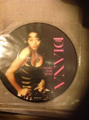 "Diana Ross Work That Body 7"" Picture Disc 1981 Clp241"