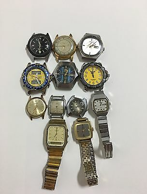 Lot Of 12 Watches For Parts Or Repaire