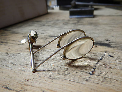 Vintage B L Bausch And Lomb Eyeglass Magnifier Clip On 2 Lens 4X 7X Jeweler
