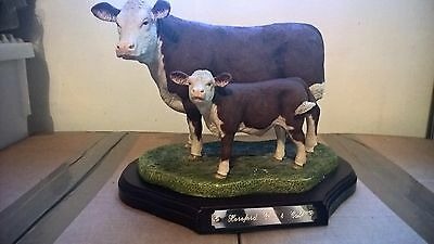 Naturecraft - Hereford Cow and Calf - Best of Breed - Limited Edition - Not BFA