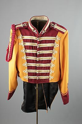 Vtg 60s Marching Band Uniform Sgt Peppers Jacket sz 38 1960s Brass Buttons #2473