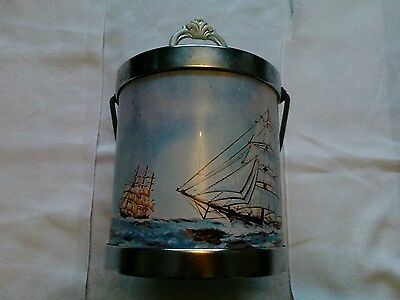 Retro Vintage Ice Bucket Biscuit Tin