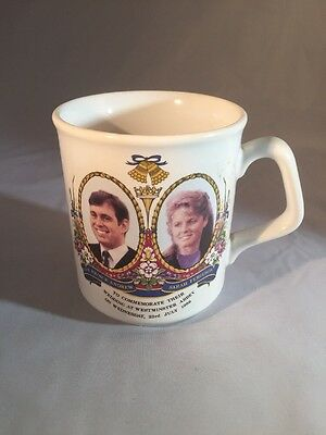 Prince Andrew and Sarah Ferguson wedding commemorative cup Crown Windsor