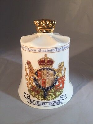 Aynsley Fine Bone China Bell Queen Mothers 95 Th Birthday Royal
