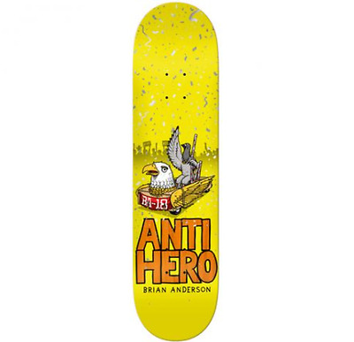"""Anti Hero First Brian Anderson 8.25"""" Skateboard Deck Free Delivery Free Grip"""