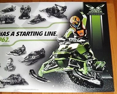 """NEW 37"""" x 25"""" ARCTIC CAT 50TH ANNIVERSARY EVERY RACE HAS A STARTING LINE POSTER!"""
