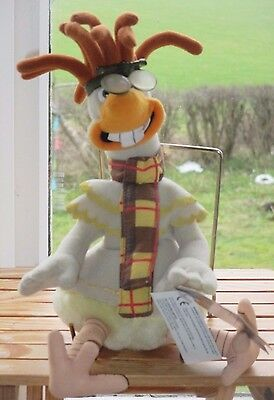 """CHICKEN RUN MOVIE - 10"""" BEANIE SOFT TOY """"MAC"""" by PLAYMATES - NEW WITH TAGS"""