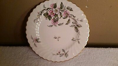 6 Syracuse China Apple Blossom Pattern 8 Inch Salad Plates