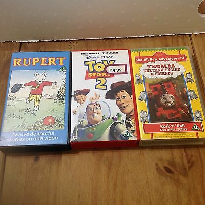 VHS Tapes Job Lot Including Toy Story 2, Rupert, Thomas The Tank