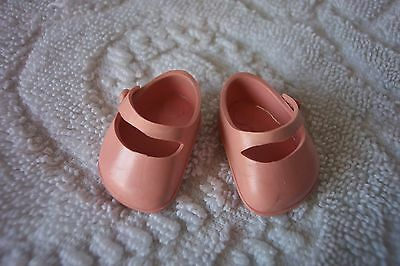 FAB 1950's Vogue Ginnette PINK Vinyl Shoes fit Vogue Ginny Nancy Ann Muffie too!