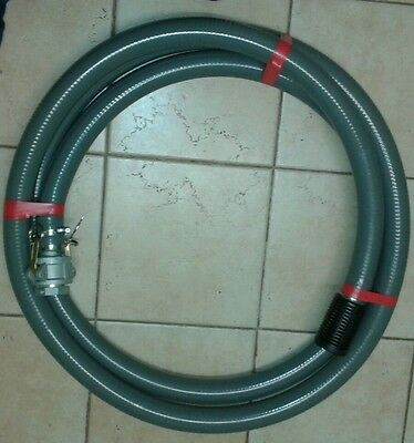 Fire hose pump suction hose 2 inch (50mm) x 7m with camlocks and male fitting
