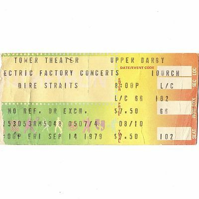 DIRE STRAITS SULTANS OF SWING TOUR Concert Ticket Stub PHILLY USA 14.09.1979