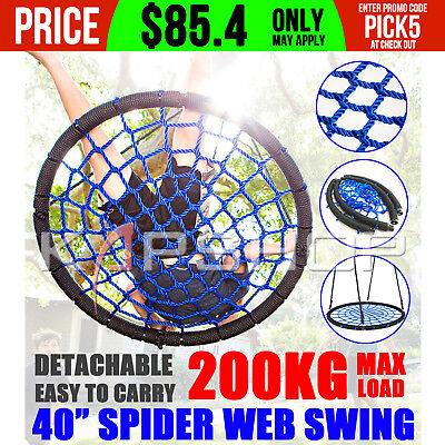 Large Tree Nest Swing Spider Web Kid Ring Seat House Outdoor Play Equipment Gift