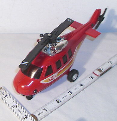 TINY TONKA RED BELL HELICOPTER PRESSED STEEL TOY 1960s