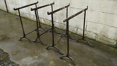 4 X Antique Wrought Iron Tressels