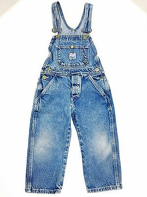 Vintage Pointer Brand Denim Child's Overalls Size 4 Made In USA Nicely Worn