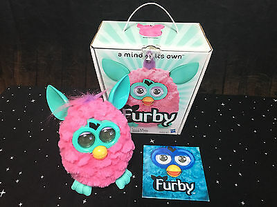 Furby Electronic Toy Figure Plush Pink 2012 Hasbro NOT WORKING For Parts As Is
