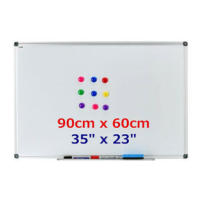 "35""x23"" Single Side Magnetic Writing Whiteboard Dry Erase Board Office W/ Eraser"