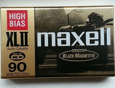 LOT OF 5 MAXELL XLII 90 CASSETTE TAPES SEALED JAPAN xlii CHROME HIGH BIAS TAPE