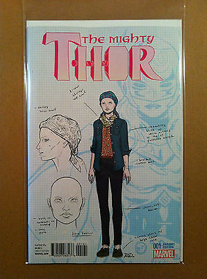 Mighty Thor (2015) #1 Russell Dauterman 1:20 Design Variant Vf+ 1St Printing