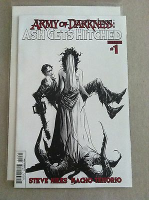 Army Of Darkness: Ash Gets Hitched #1 B&w 1:10 Sketch Incentive Variant Jae Lee