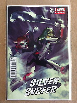 Silver Surfer (2014) #5 'guardians Of The Galaxy' 1:15 Variant First Print Nm-