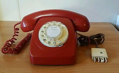 Retro Red Rotary Dial Corded home Phone