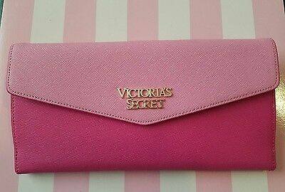 Victoria Secret Leather Passport Case Cover Travel Wallet ID Card Holder Organiz