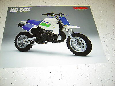 Kawasaki 1989 KD80X - N2 NOS.Sales Brochure 2 Pages.