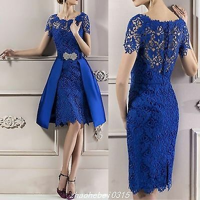 Lace Mother of the Bride Groom Dresses Knee length Women Formal Gowns Outfits