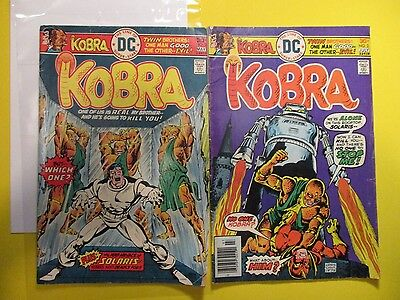 DC Action Comics KOBRA 1976 Vintage Old Comic Book Issue # 2, 3