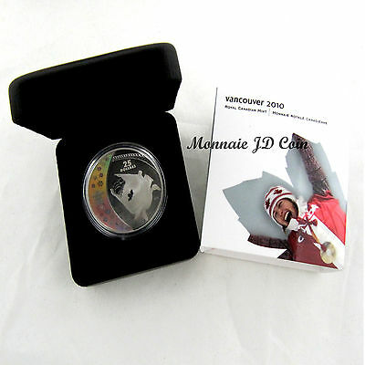 Canada 2008 Vancouver Olympic 2010  $25 Sterling Silver Hologram Coin  Bobsleigh