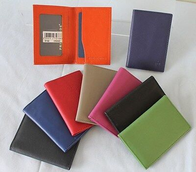 Leather Travel Card Holder * Vibrant Colours by Primehide Oyster Tram Bus