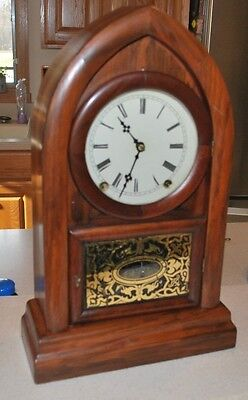 Antique Terry Andrews beehive mantle clock with Rare Brass Springs